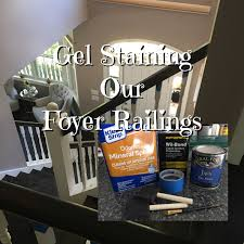 Gel Staining Our Foyer Stairs Railing - YouTube Java Gel Stain Banister Diy Projects Pinterest Gel Remodelaholic Stair Makeover Using How To A Angies List My Humongous Stairs Fail Kiss My Make Wood Stairs Treads For Cheap Simply Swider Stair Railing Cobalts House Staircase Reveal Cut The Craft Updating A Painted With An Ugly Oak Dark All Things Thrifty 30 Staing Filling Holes And