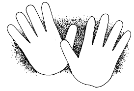 Black Open Hands Coloring Pages For Hand Page