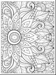Wonderful Spring Flower Coloring Pages Printable With For Adults