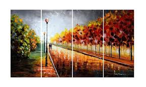Large Multi Panel Textured Paintings And Gallery Wrapped Canvas Art Multiple Wall Ideas