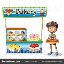 Royalty Free RF Bakery Clipart Illustration by Graphics RF