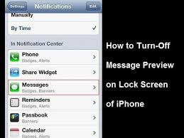 How to Turn f Lock Screen Message Preview on iPhone Running iOS