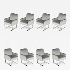 Milo Baughman - Set Of Milo Baughman For Thayer Coggin Dining Chairs On  Wheels
