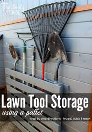 DIY Projects Your Garage Needs Lawn Tool Storage Using A Pallet