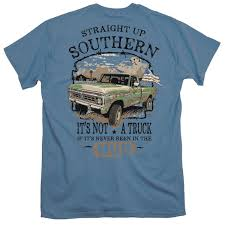 100 Ford Mud Truck Straight Up Southern Heather Navy Cotton TShirt