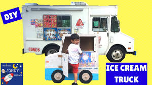 100 Toy Ice Cream Truck DIY Cardboard Mr Softee For Kids Pretend Play With