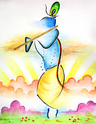 Abstract Lord Krishna Painting Small Canvas PaintingsEasy Watercolor