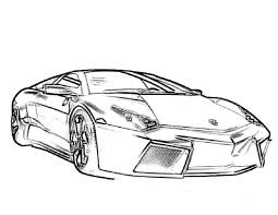 Adult Lamborghini Coloring Pages
