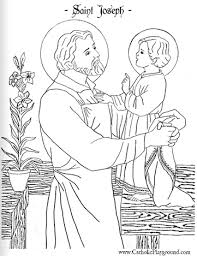 Joseph Coloring Pages 8 Saint Page March 19th Catholic Playground