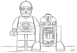 Click The Lego R2D2 And C3PO Coloring Pages To View Printable