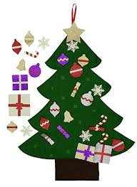 12 Ft Christmas Tree Amazon by Amazon Com Felt Christmas Tree For Kids Glitter Edition 3ft