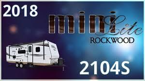 Rv Jackknife Sofa Craigslist by 2018 Forest River Rockwood Mini Lite 2104s Travel Trailer Rv For