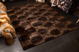 biberfell teppich für das wohnzimmer
