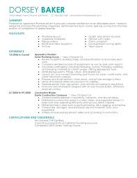 Plumber Cv Example Uk Resume Examples Of Resumes Templates Apprentice Construction Contemporary Objective Sample Free Template Plumbing