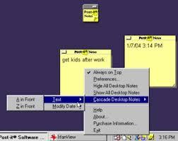comment mettre des post it sur le bureau windows 7 télécharger post it notes lite gratuit