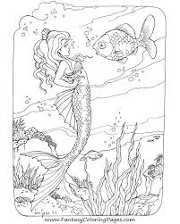 Another Mermaid Coloring Page
