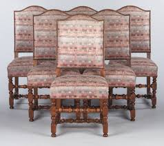 Set Of 6 French Louis XIII Style Upholstered Walnut Chairs, 1920s ... Set Of 8 Mahogany Ladder Back Ding Chairs Loveday Antiques West Saint Paul Vintage Finds Art Deco And Retro Fniture Of The 50s 60s Riva 1920 Boss Executive Table 810 Seater Walnut Heals French Louis Xiv Style Circa 1920s Art Deco Console Antique Fniture Sold 4 Tudor New Upholstery Elegant Pair Felix Kayser Antrosophical Ash Wood Chairs From Sothebys Home Designer Fniture John Hutton 0415antiqueshtml Mad For Midcentury More American Martinsville Info