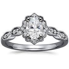 Black Rhodium Engagement Ring Cadenza Halo
