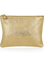 jimmy choo nina metallic textured leather pouch cocopp