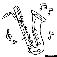 Baritone Saxophone Coloring Page