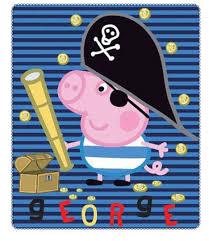 Peppa Pig George Pumpkin Stencil by Pig George Kids Fleece Blanket 120x140 Cm U0027george Pirate U0027