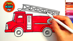 Fire Truck Drawing Easy At GetDrawings.com | Free For Personal Use ... Fire Truck Nursery Art Print Kids Room Decor Little Splashes Of Plastic Toddler Bed Light Fun Channel Youtube Videos For Children Rhymes Playlist By Blippi And Trucks For Toddlers Craftulate Real Fire Trucks Engine Station Compilation Crafts Crafting Sound The Alarm Ultimate Birthday Party Sunflower Storytime Ride On Unboxing Review Riding Read Book Coloring Book With Monster