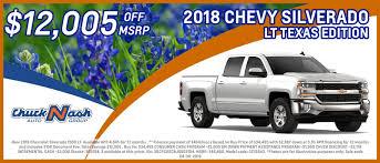 100 Texas Truck Deals Chuck Nash San Marcos Your Austin San Antonio TX Chevrolet