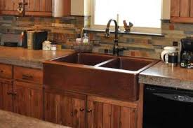 Mountain Rustic Farm Front Copper K Apron Sinks Kitchen
