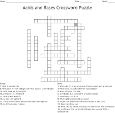 100 Ph Of 1 Acids And Bases Crossword WordMint