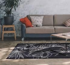 palmblätter wohnzimmer vinyl teppich