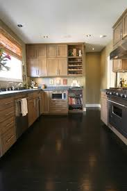 Kitchens With Dark Cabinets And Wood Floors by Very Dark Brown Hardwood Floors