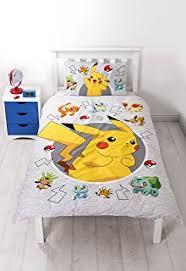 Pokemon 2 Side Pikachu Reversible Design Duvet Cover Set with