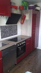 küche rot hochglanz mit e geräten