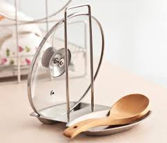 Spoon Holder Lid Spoon Rests Pot Clips Kitchen Stand Stainless