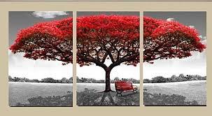 3 Panel Tree Nature Canvas Wall Art Decor