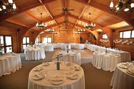 Wedding Decoration Ideas Rustic Fall Decorations With Exposed Beam Ceiling And Chandelier Above