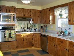 1963 Retro Oak Kitchen Yellow And Aqua Linoleum