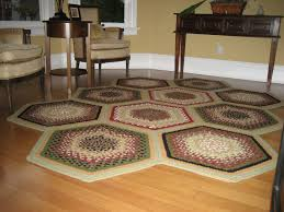 Homespice Decor Cotton Braided Rugs by Decorating Charming Hexagonal Braided Rugs In Multicolor On