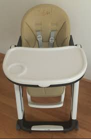 Peg Perego Siesta Baby Recliner High Chair (Tan Leather)