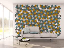 wandgestaltung wohnzimmer selbstklebende filz designs felty