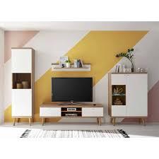 scandi wohnwand möbel als set cablos 4 teilig