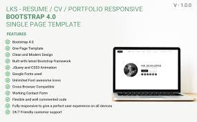 If You Are Wondering To Build Your Online Portfolio Resume Website This Is The Perfect Template For
