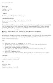 Housekeeping Resume Objectives Objective Housekeeper Hotel Entry Examples Modern Supervisor Cv