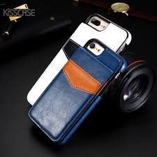 KISSCASE Vertical Flip Card Holder Cell Phone Case For iPhone 6