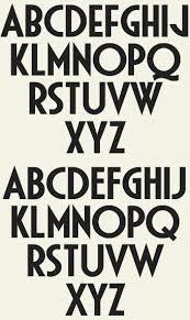 Bildresultat For Art Deco Font