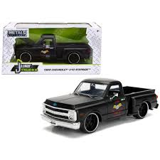 100 1969 Chevy Trucks New Chevrolet C10 Stepside Pickup Truck Matt Black Garage Nuts