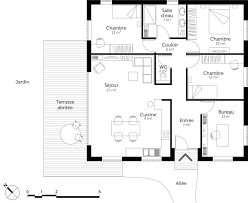 plan de maison de plain pied 3 chambres meilleur de plan maison 3 chambres ravizh com