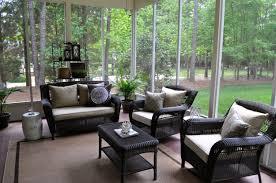 Garden Treasures Patio Furniture Cushions by Patio Black Rattan Wicker Patio Set For Minimalist Patio Decor