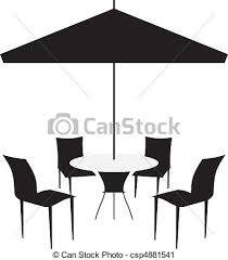 Patio Chairs And Canopy Vector