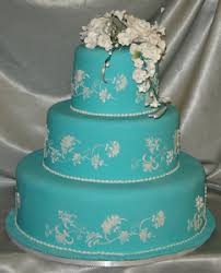 Our Very Own 3 Tiered Light Blue Fondant Wedding Cake Offers Elements Of Both Traditional And Modern Cakes